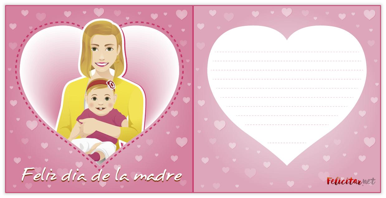 diptico para felicitar el dia de la madre